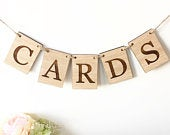 Cards Sign, Cards Bunting, Cards Garland, Wedding Card Sign, Cards Banner, Wooden Cards Garland, Wedding Card Bunting, Wedding Signs, Cards