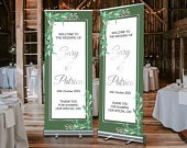 FREE POSTAGE, Custom Wedding Banner, Summer Wedding, Wedding Pull Up Banner, Wedding Roller Banner, Wedding Pull Up Stand, Welcome Sign