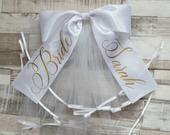 Bride Booty Veil Hen Party Custom Made 2 Tier Veil Bachelorette Party Bridal Shower