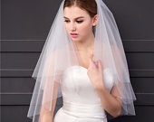 Classic White Tulle Multi Layer Bridal Veil