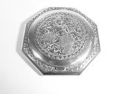 25th Wedding Anniversary Gift Sterling Silver Siam Compact Mirror 1940s