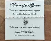 Gift from Groom To Mother, Today a Groom, Wedding Keepsake, Mother of the Groom, Grooms Mother Gift, Mother in Law Gift, Romantic Wedding