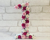 Floral number, free standing, cake smash, number gift, birthday number, party decor, photo prop, table number, paper flowers, anniversary
