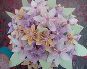 Bridal Bouquet and Button Hole set. Kusudama Paper Flowers. Themed Wedding. Origami Wedding Bouquets
