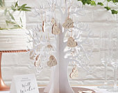 Wooden wishing tree guest book White wooden wedding guest book alternative Country wedding guest bookWedding guest bookBeautiful botanics