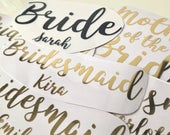 Personalised Iron on Transfers Wedding Party Perfect for Robes / Gowns / Pjs!