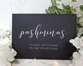 Pashminas basket to have and to hold White Print Script Wedding Party Sign Chalkboard style A4 black craft brown classic rustic modern chalk