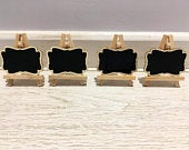 Wedding mini Chalkboard place cards with Easel stand, chalkboard table numbers, chalkboard sweet signs, special events decor, food signs.