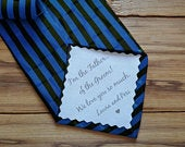 Dad Tie patch, Suit Label, Personalized Tie Patch, Father of the Groom, Thank You Dad Label, best man, stepdad, iron on tie patch