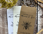 10 Meant to Bee Wedding Favour Seed Packet Envelopes Personalised