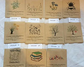 Wildflower Seed Wedding Favours Packets PERSONALISED Vintage favour 5, 10 x 20