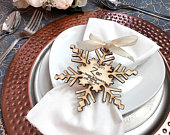 Wedding favours, Snowflake favor, winter wedding, Personalised wedding favors, Name place cards, Christmas wedding favors .