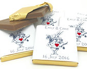 100 Personalised Chocolate Wedding Favours Alice Wonderland Wedding Favours, Winter Wedding, Wedding Favours, Personalised Chocolate