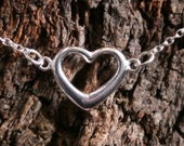 Eternally Loved Discrete PERMANENTLY LOCKING Heart shaped O ring Slave Bracelet. Sterling silver. BDSM eternity / infinity ring bracelet.