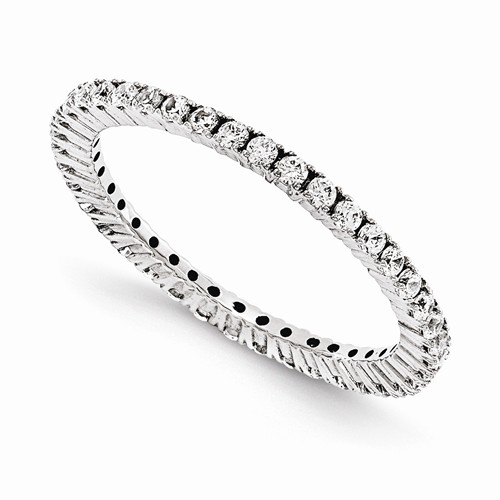 1/2 Carat Plus Endless Diamond Eternity Band in 14K White Gold