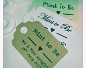 Personalised Mint To Be Wedding Favour Tags MINI Price Label (meant) Custom Tag