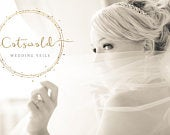 Beautiful Bridal Boutique Single Layer Fingertip Length Ivory Wedding Veil Various Finishes