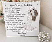 Step Father of the Bride Wedding Thank You Gift, Personalised bridal party gift, present from Bride, wedding party gift, gift from Bride