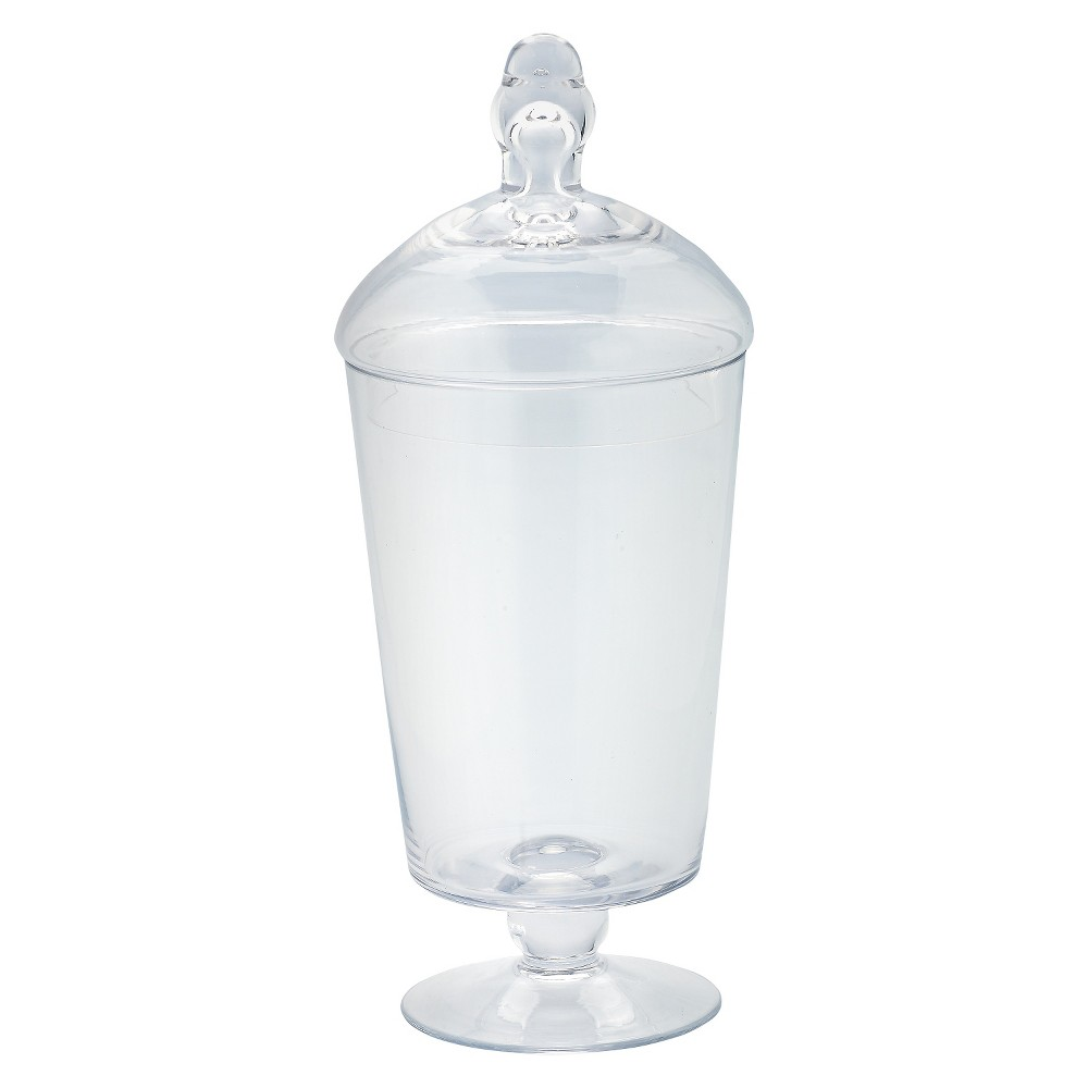 "Diamond Star Glass Apothecary Jar with Lid Clear (12""x5"")"