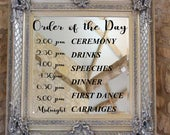 Personalised Order of the Day Ceremony Signage Welcome Wedding sign Vinyl Decal Sticker V624
