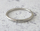 Platinum Wedding Ring Hammered or Smooth Platinum Band Ring