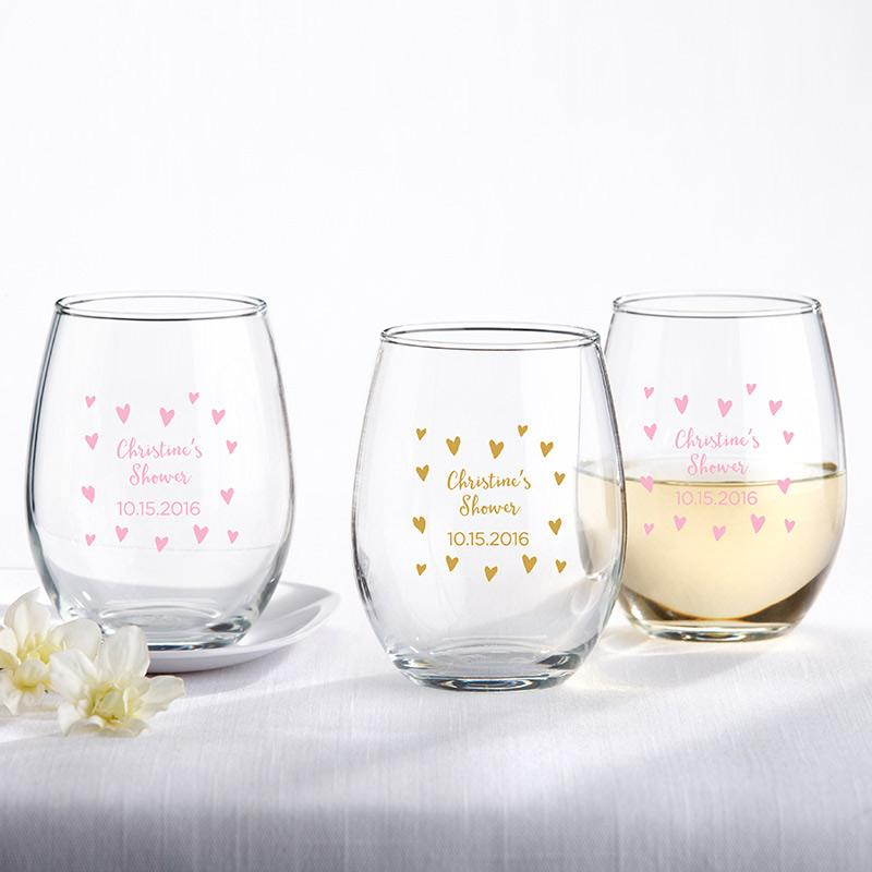 Personalized Sweet Heart 9 oz. Stemless Wine Glass