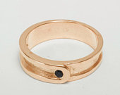 10k Rose Gold Natural Sapphire mens Band Ring Customizable 9K,10K,14K,18K, Yellow, Rose or White Gold or Platinum