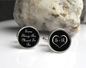 Wedding Cufflinks, Gift For Groom From Bride, Anniversary Gift For Him