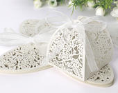 Wedding Favors Cage Hollow Birds Candy Boxes Ribbon Wedding Party Favours Gift Table Decor, Candy boxes, favours, Wedding Boxes, Lace Boxes