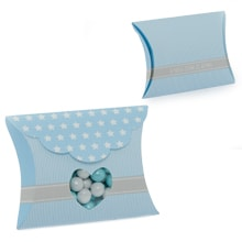 Blue Hrt Wndw W/Star Pllw Box-Pk Colored - 3-1/8 X 1-1/8 X 3-3/8 - Cardboard - Quantity: 20 - Favor Boxes by Paper Mart