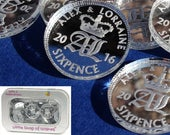 Lucky Sixpence Wedding Favours Table Decorations Personalised Names Lucky Sixpences in Silver Mirror Acrylic Coins x 50 Confetti Keepsakes