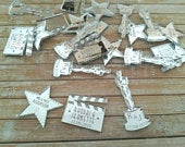 Hollywood Film Wedding / Party Decoration Personalised Mirror Table Confetti Favours
