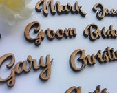 Place Name For Wedding Guests SAMPLES ONLY Wooden Cut Outs WeddingTable Decor Wedding Confetti Table Plan