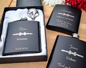 Personalised Engraved Hip Flask. Best Man Wedding Usher Gift Groom Groomsman Father of the Bride Favour Favours Favors Favor Drink Engraved