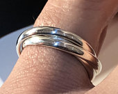 925 Sterling Silver Ladies Russian Wedding Band Ring Russian Silver Band IT Sizes Gift Boxed