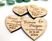 Save The Date Magnet, Rustic Wedding Invitation, Wood Heart Save The Dates, Wedding Stationery Invites, Custom Fall Winter Save The Date.