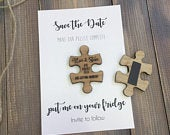 Save the Date Magnet Save The Date Magnet with Cards Personalised Save the Date Wooden Heart Save The Dates Puzzle Save The Date