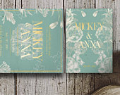 MADISON Mint Green and Gold Wedding Invitations, Green and Gold Wedding Invitations, Mint Green Wedding, Spring Floral Wedding Invitations