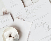 VICTORIA Cream and Grey Wedding Invitations, Classic Vintage Wedding Invitations, Silver Floral Invitations, Calligraphy Invitations