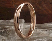 Wedding ring, small rose gold court
