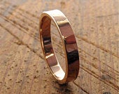Small yellow or rose gold Splash design wedding ring