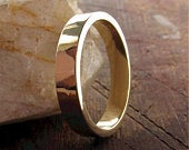 Large yellow or rose gold Splash design wedding ring