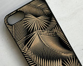 Palm Leaf Design Real Wood Phone Case for iPhone Samsung