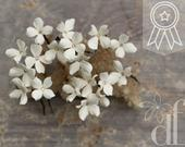 Wedding bobby pin tiny Ivory flowers bobby Pins Rustic Bridal Hair Accessories Country Wedding Floral Headpiece Set wedding hair