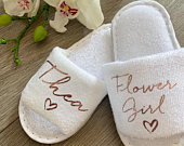 Wedding Party Slippers, Flower Girl, Bridesmaid, Bride Footwear