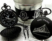 RMS TITANIC Personalised Pocket Watch and Chain Engraved Luxury Custom Engraving Ship Naval Cruise Cruiser Boarding Memorabilia Collectables
