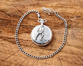 Ice Hockey P Design Pocket Watch Pewter Gift Boxed FREE ENGRAVING Hockey Present