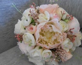 wedding bouquet bridal bouquet blush pink bouquet artificial blush bouquet rustic bouquet bridesmais bouquet flower girl bouquet silk