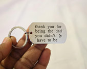 Keychain, Bag Key charm, Keyring, Word Keychain, Thank you for being the dad, Personalised Key chain