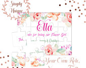Personalised Flower Girl Puzzle Thank You Will You Be My Flower Girl Proposal Gift Bridesmaid Bag Box Maid Of Honour Wedding Ask Asking Etc
